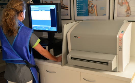 Betrachtung des Röntgenbildes zur Bestimmung der Krankheitsursache